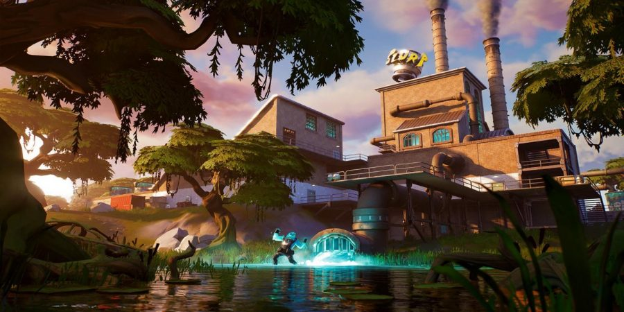 One of the new area's of the new map in Fortnite