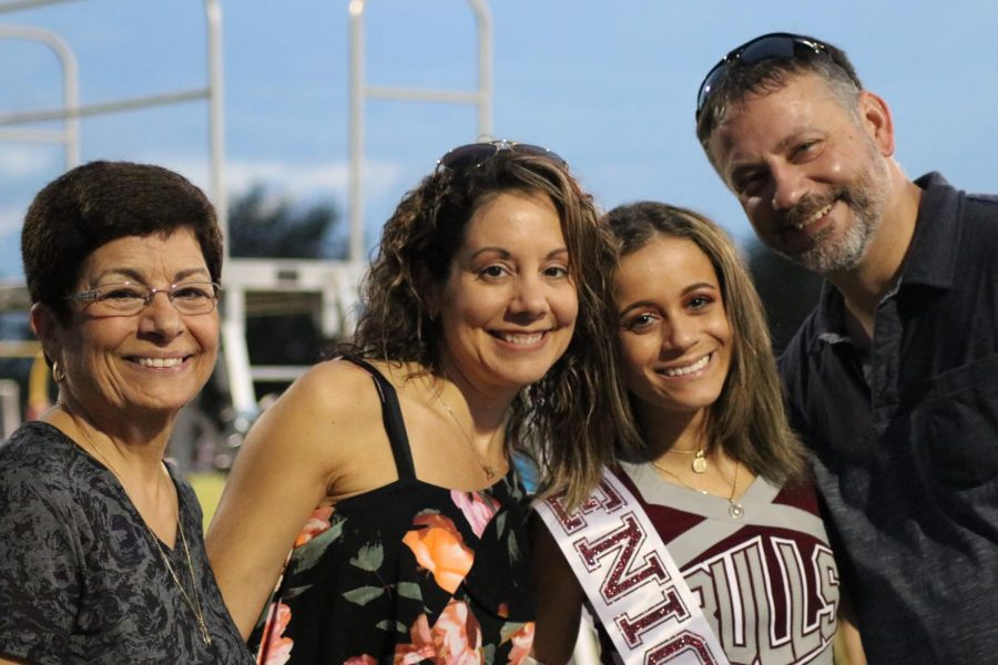 Allie Montana with her family during Senior night.