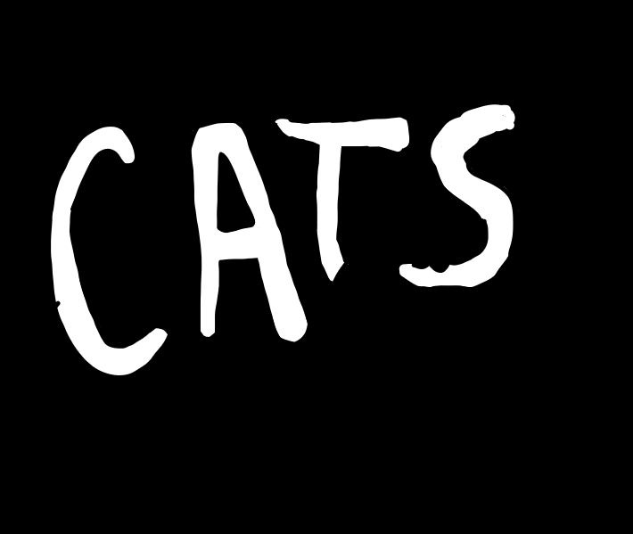 An illustration of the Cats logo for the musical and movie.