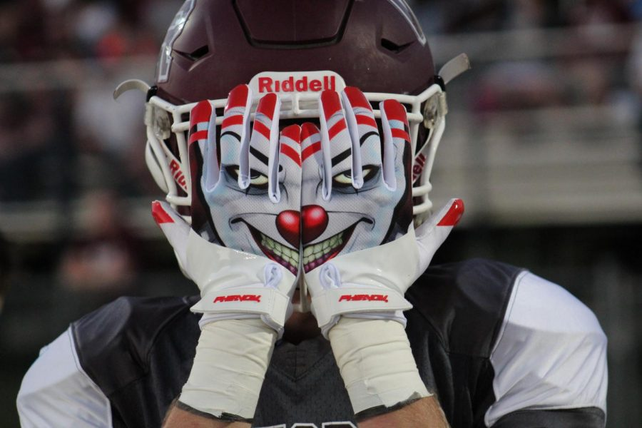 A Wirgerass Football player even had clown gloves this season.