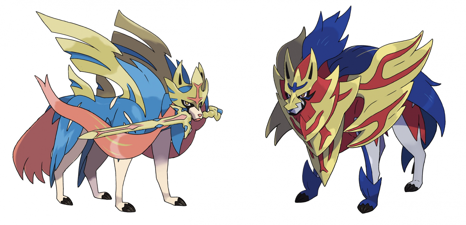 These are the legendary Pokemons for Sword and Shield, Zacian and Zamazenta.