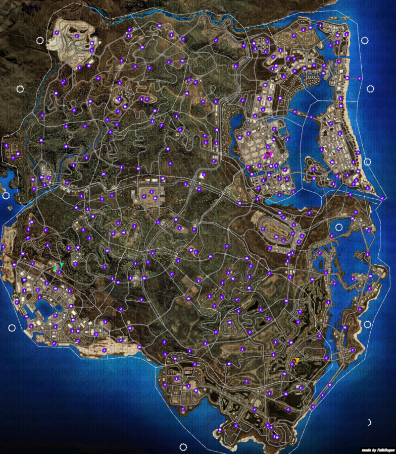 The full map of NFS Heat