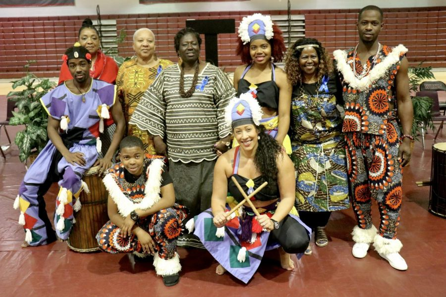 The African dance group and the