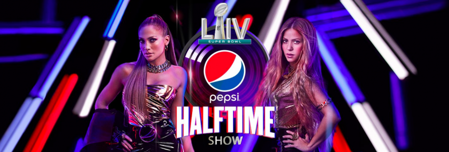 Promotional+poster+for+the+Super+Bowl+halftime+show+featuring+Jennifer+Lopez+and+Shakira.