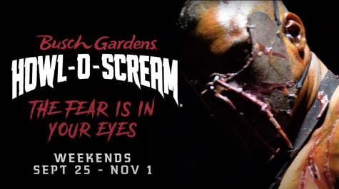 Howl-O-Scream promotional poster for this year features its theme: The Fear is in Your Eyes.