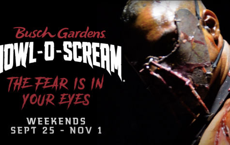 Howl-O-Scream promotional poster for this year features it's theme: The Fear is in Your Eyes.