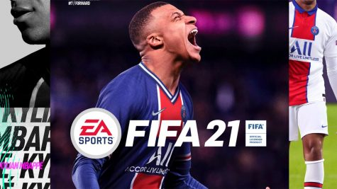 "New cover star, Kylian Mbappe, rocks his PSG colors in ""FIFA 21""."