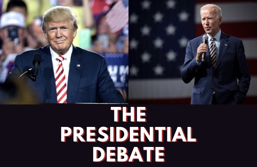 Photo illustration of President Donald J. Trump and former Vice President Joe Biden.