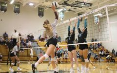 Wiregrass going up for the kill against Sunlake.