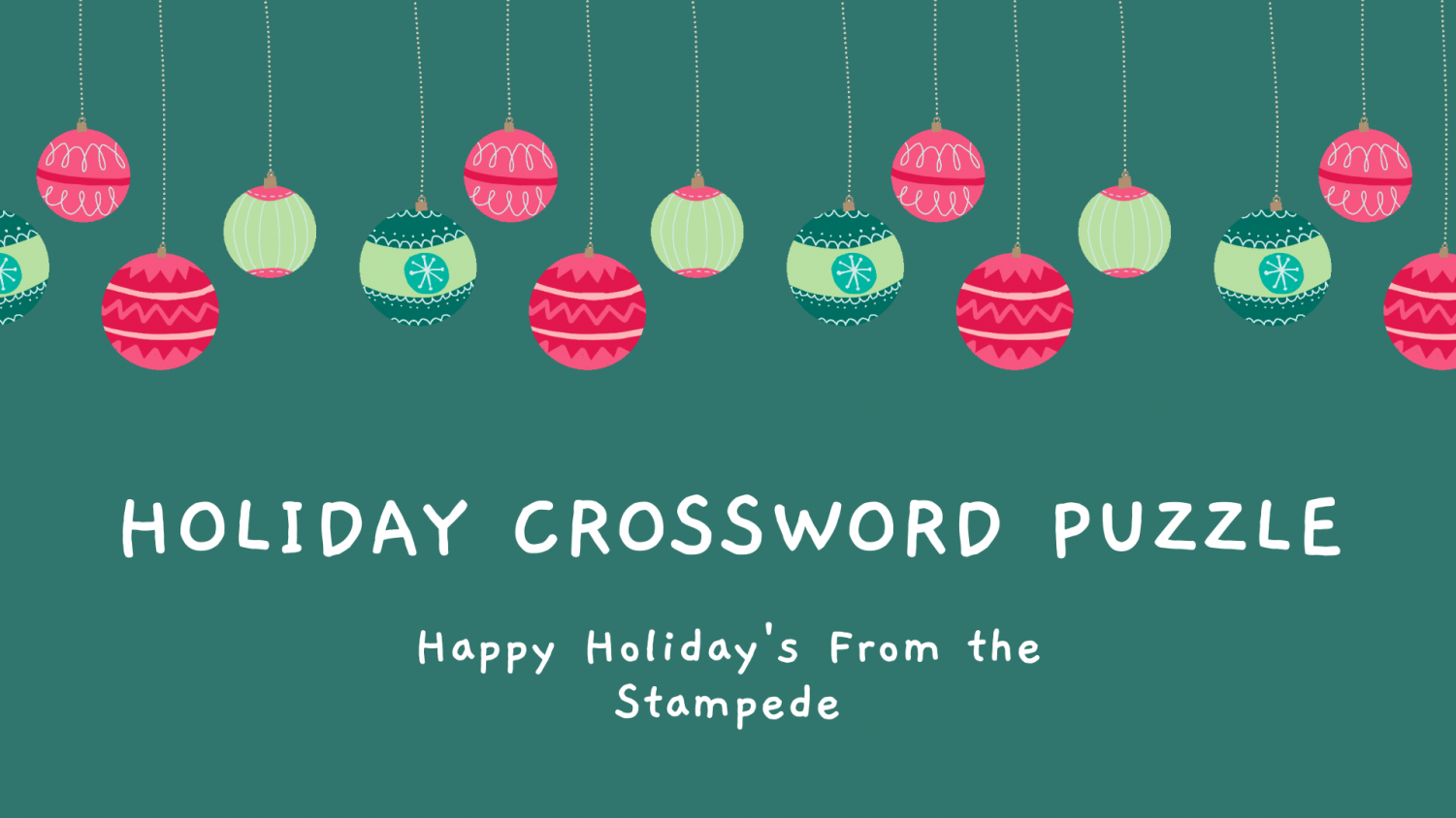 Happy Holidays from the Stampede!