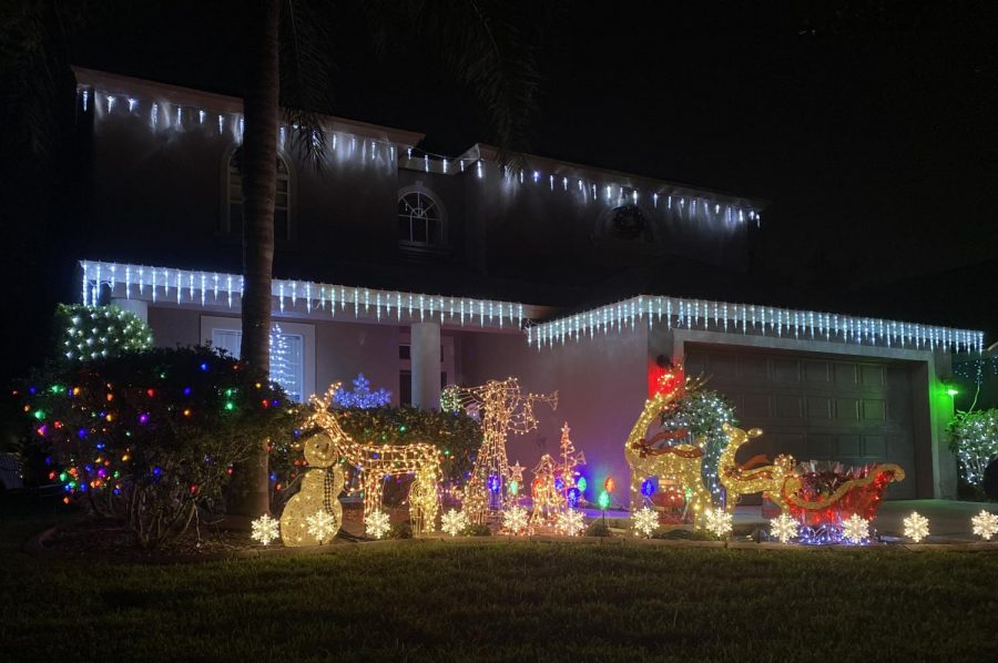 A house in Seven Oaks that went all out with the decorations this Christmas.