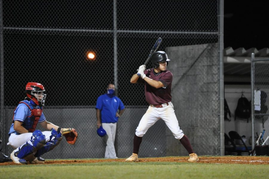 Chris Lebron (#21) comes up to bat against East Lake.