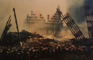 One of the photos my father took of the debris on Sept. 15, 2001.