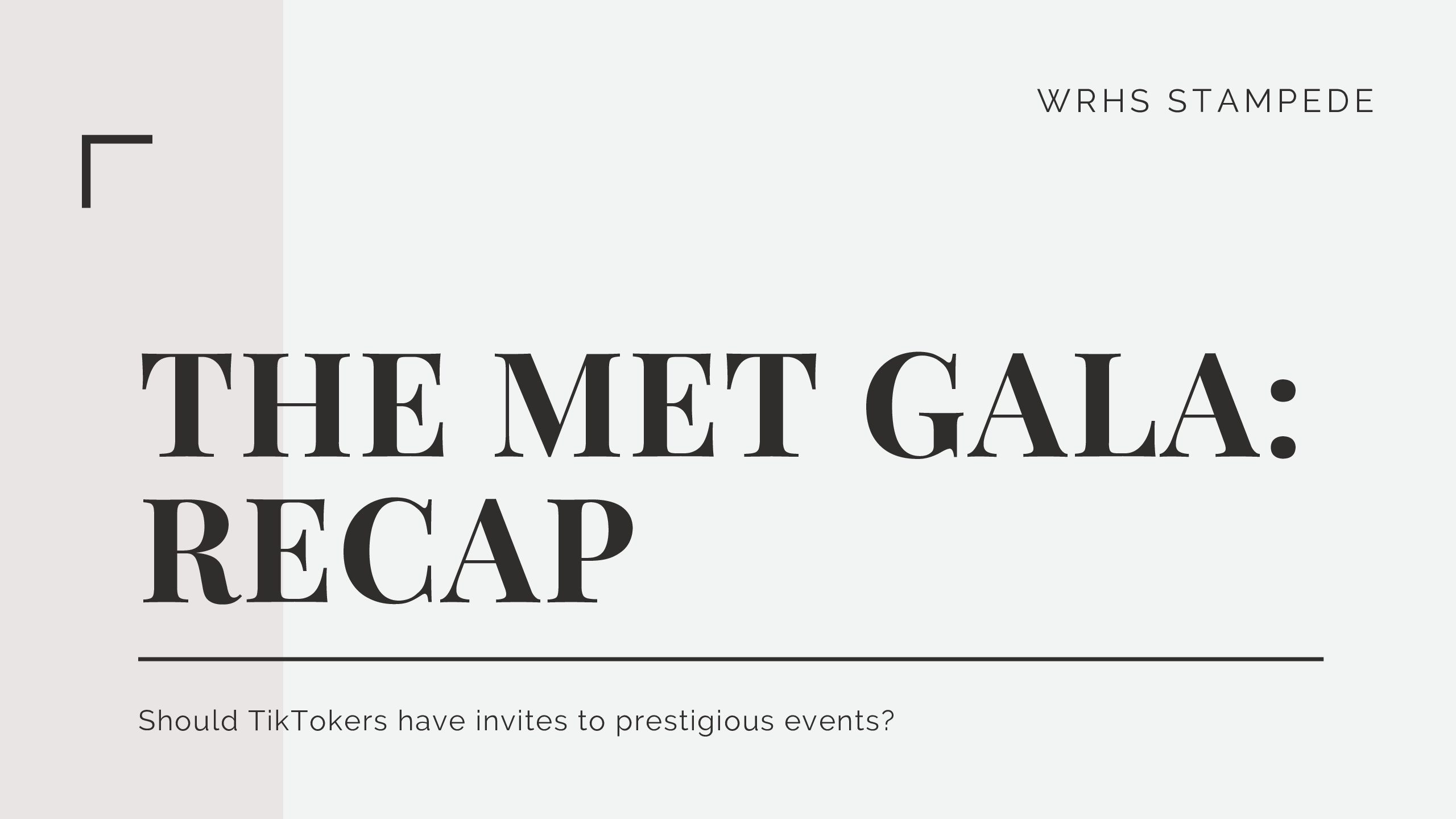 The Met Gala is the annual fundraiser for the Metropolitan Museum of Arts Costume Institute.