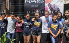 Wiregrass Key Club in 2018 standing in front of the Humane Society of Tampa after volunteering.