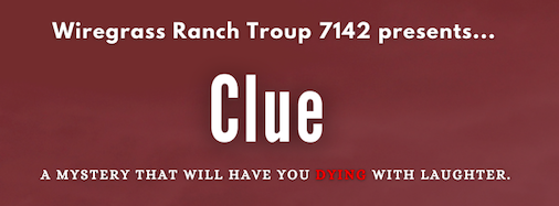 The show Clue will be performed Oct 8 and 9 at the Wesley Chapel Center for the Arts.