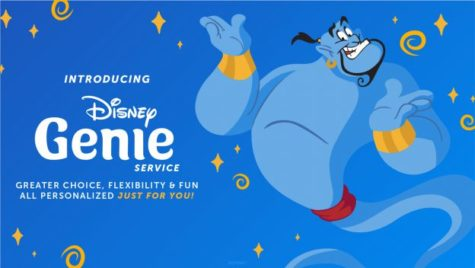 Promotional image for the release of Disney Genie with a brief description of its purpose from the official Disney Parks site.